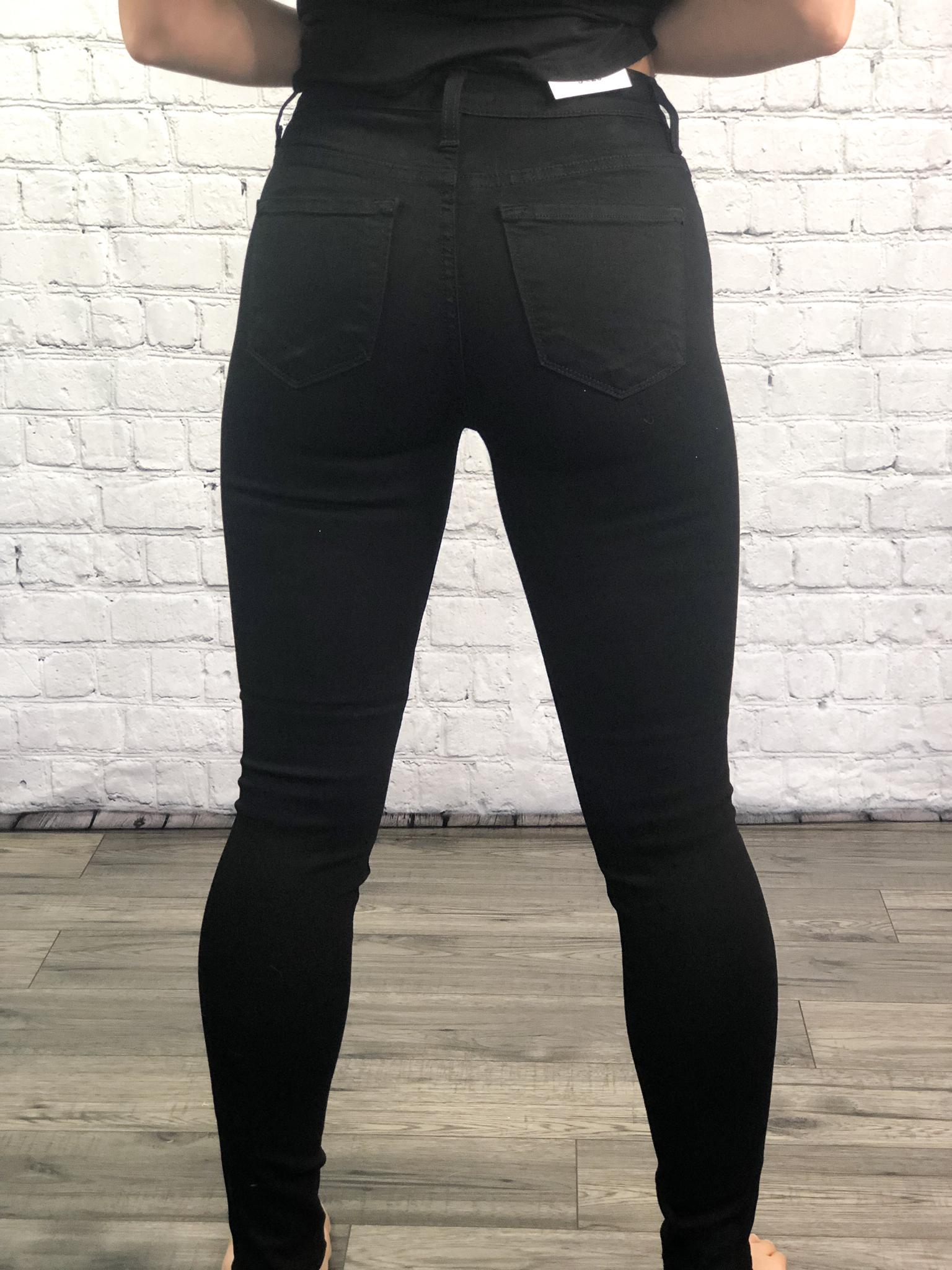 Black Mid Rise Skinny Jean