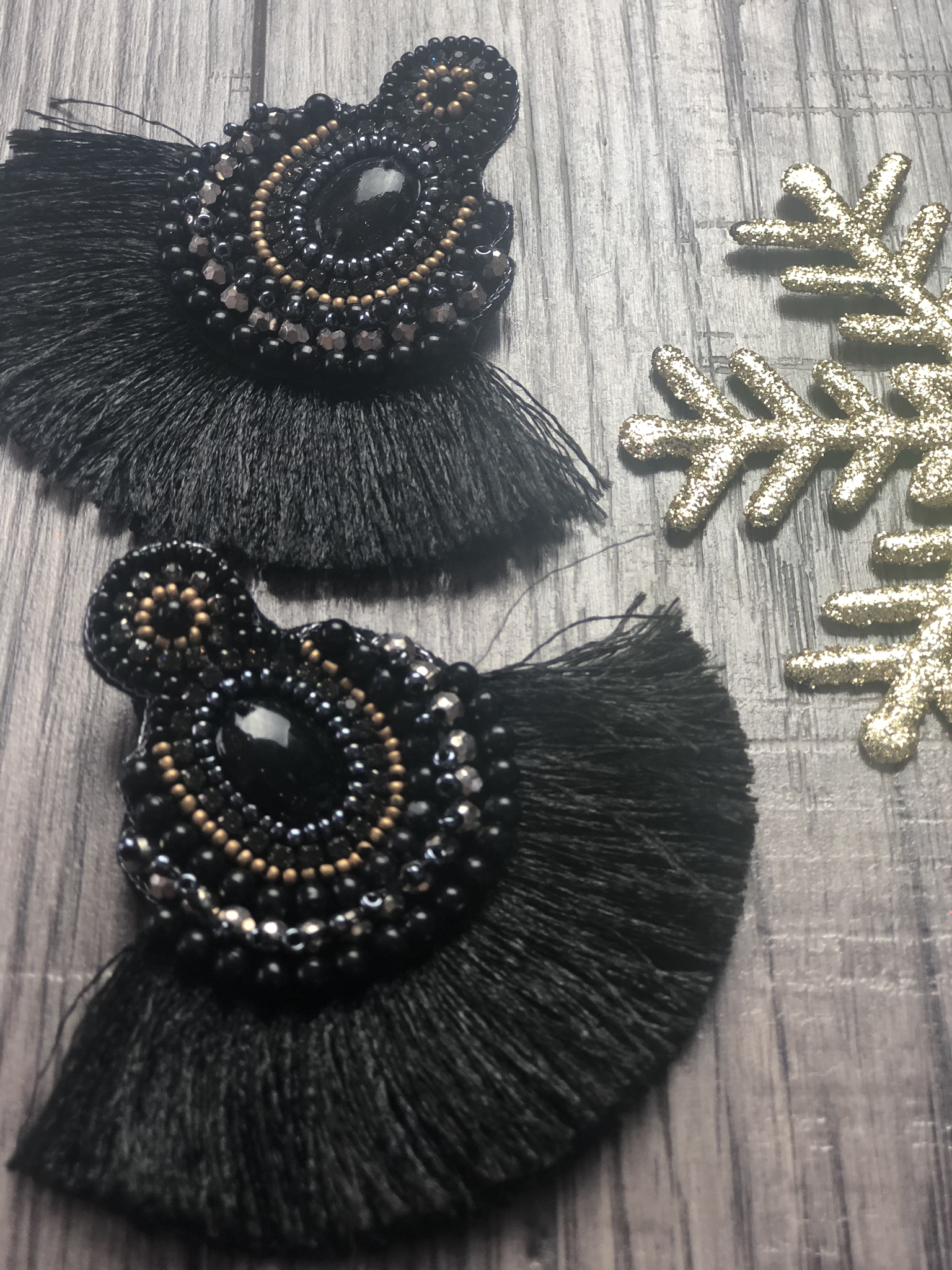 The Christmas Party Cheer Earring - Black 999999768