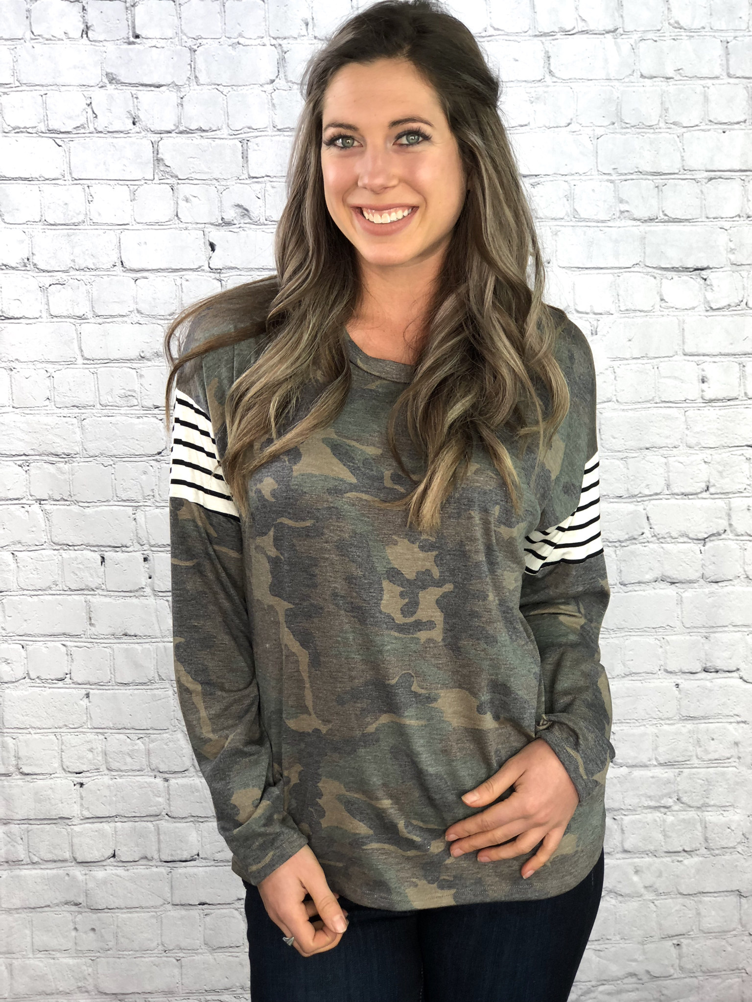 The Camo Chic Long Sleeve Top 999999894