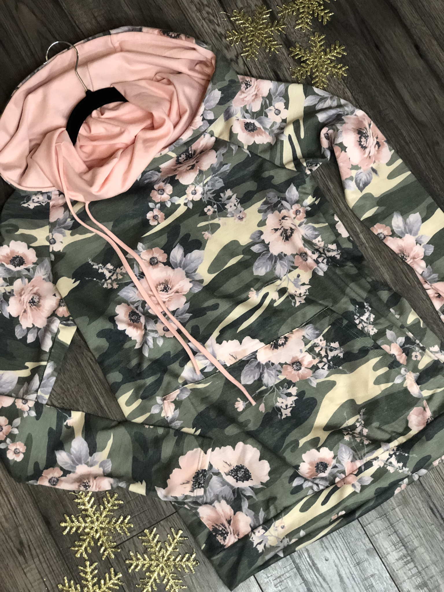 Camo Floral Hoodie 99999981303