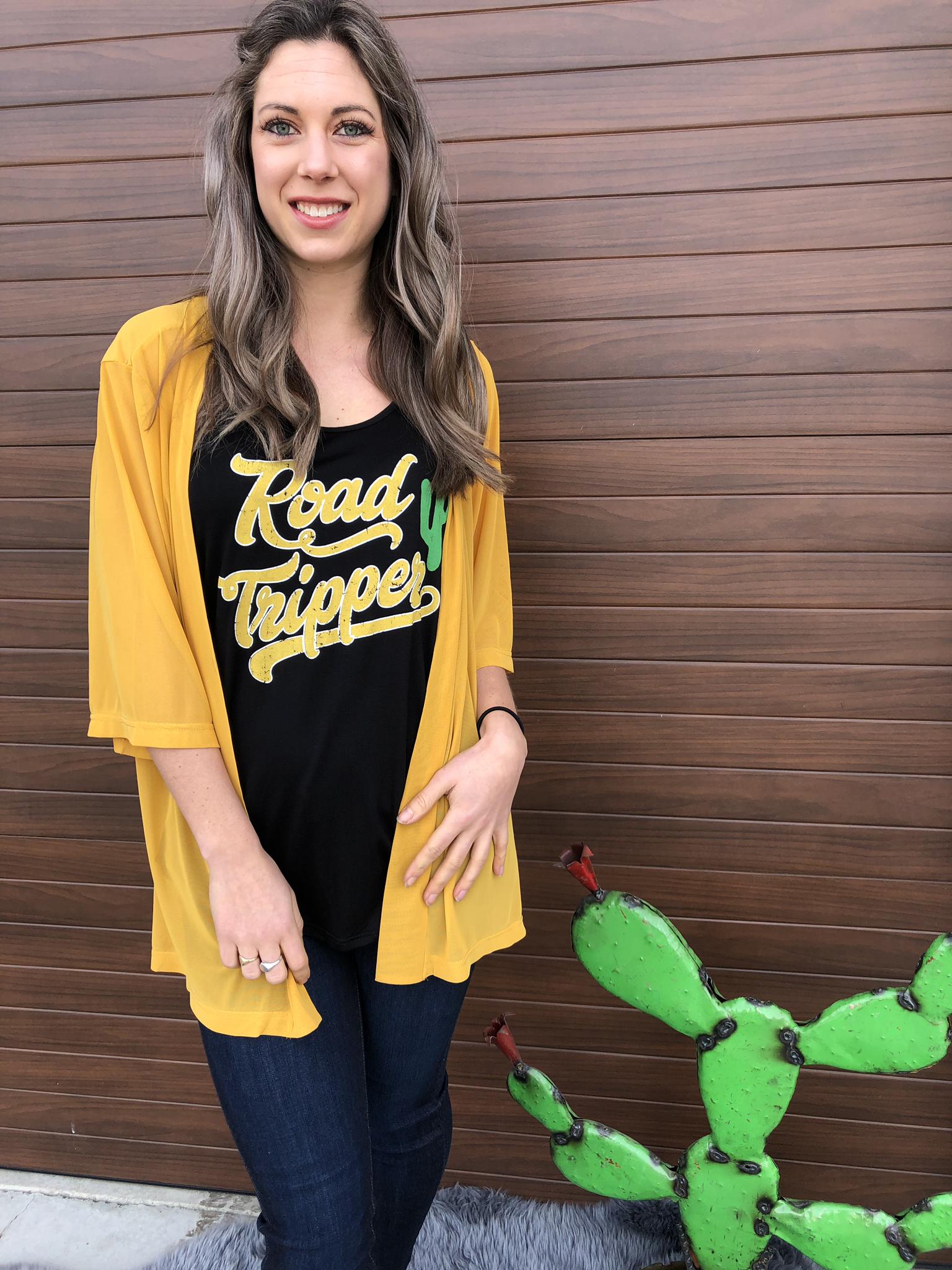 Kick Off Kimono - Mustard 815232