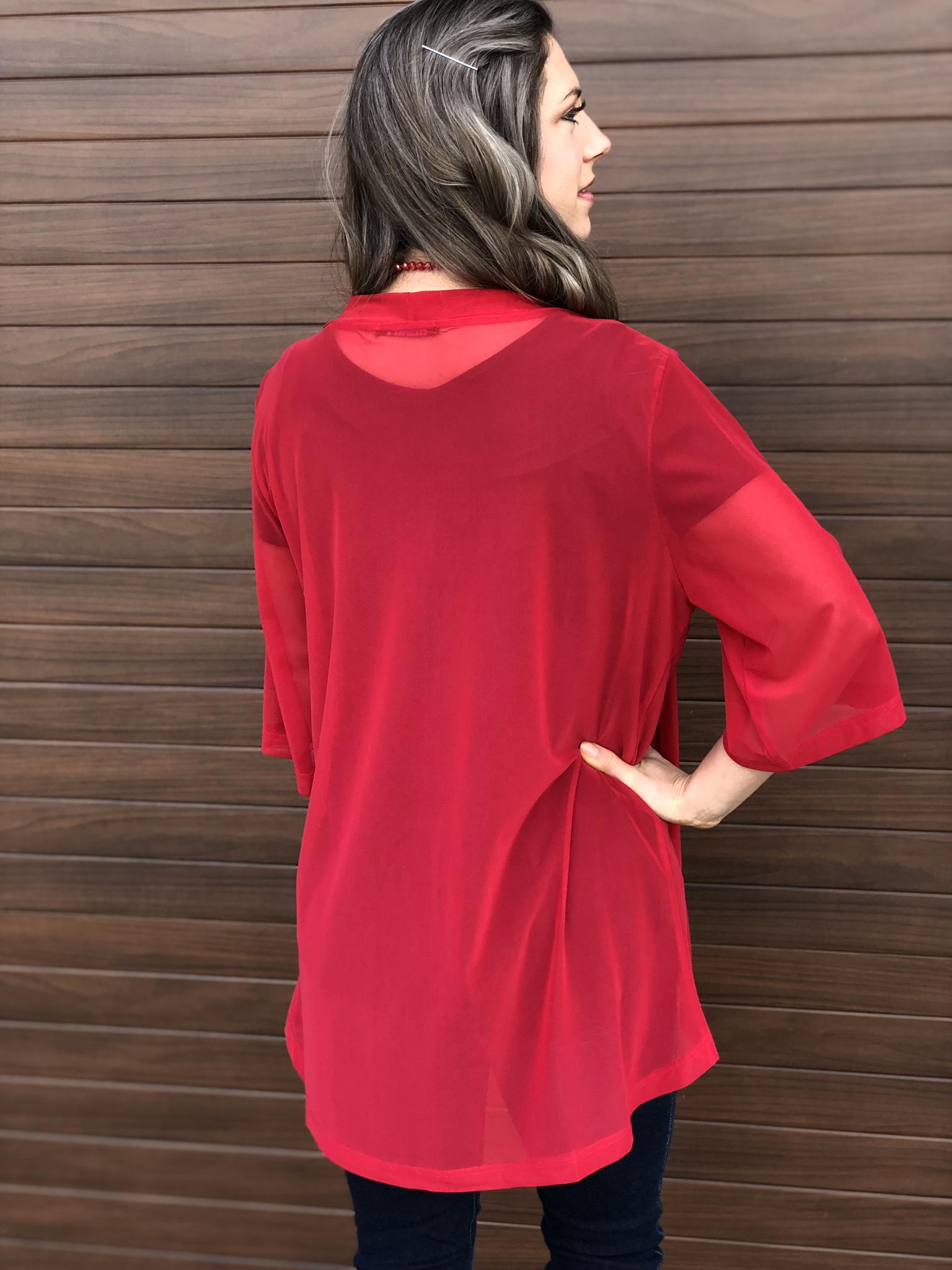 Kick Off Kimono - Red