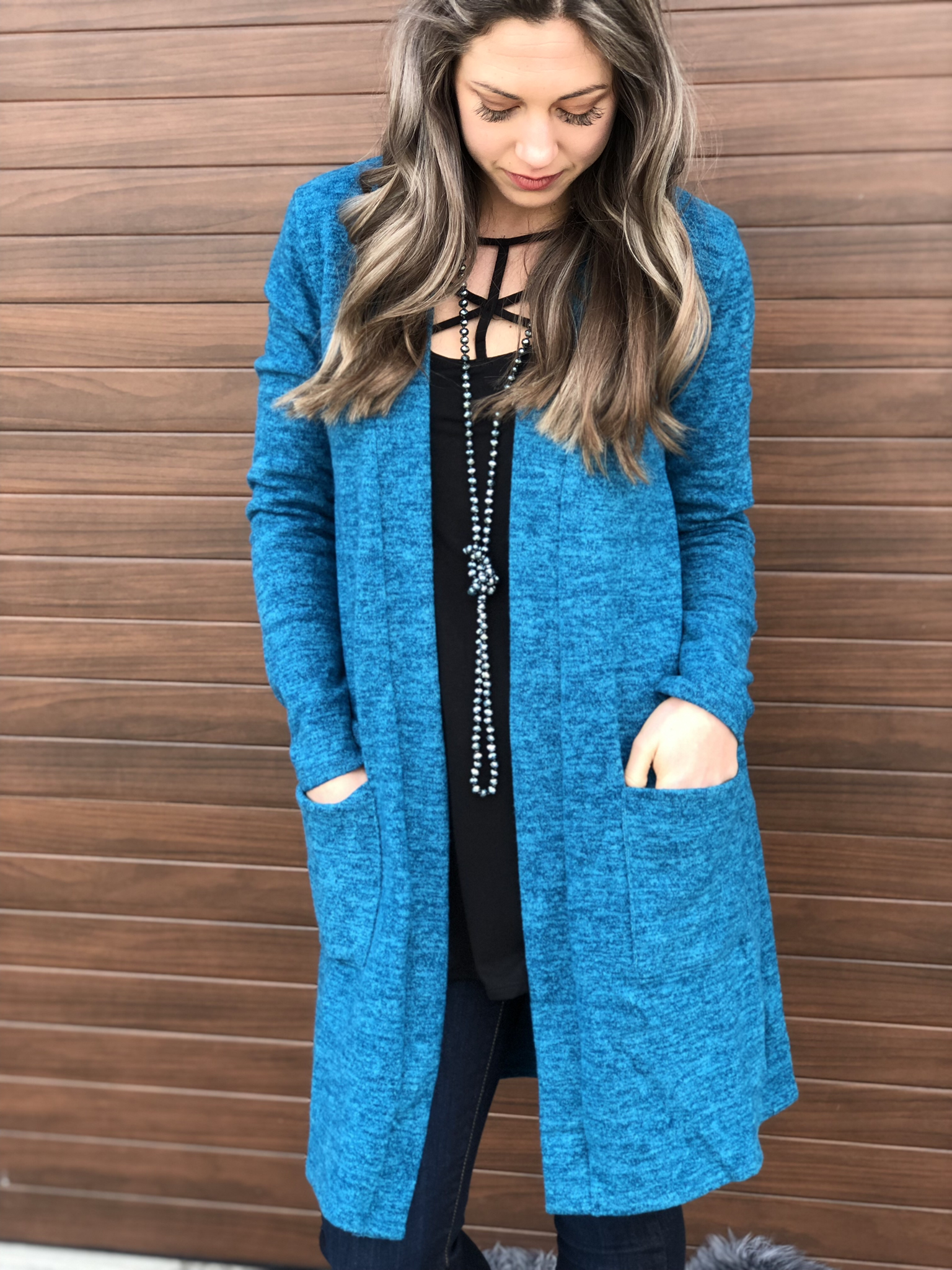 The Fireplace Cardigan - Teal 81512