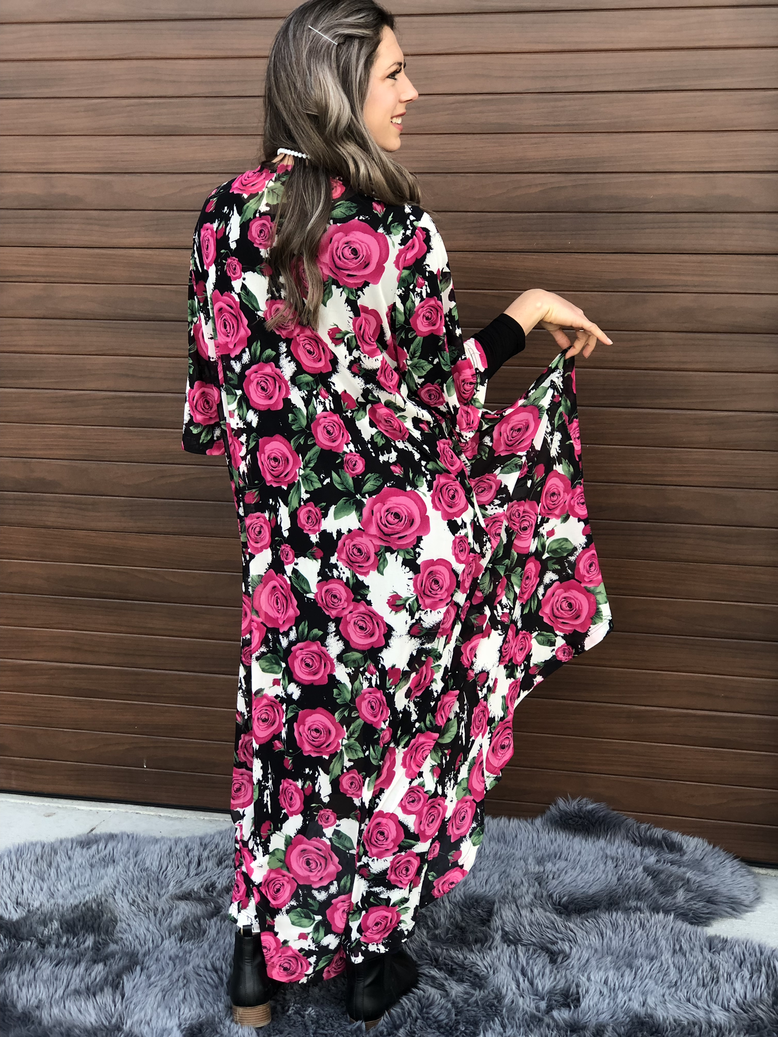The Pink Rose Duster