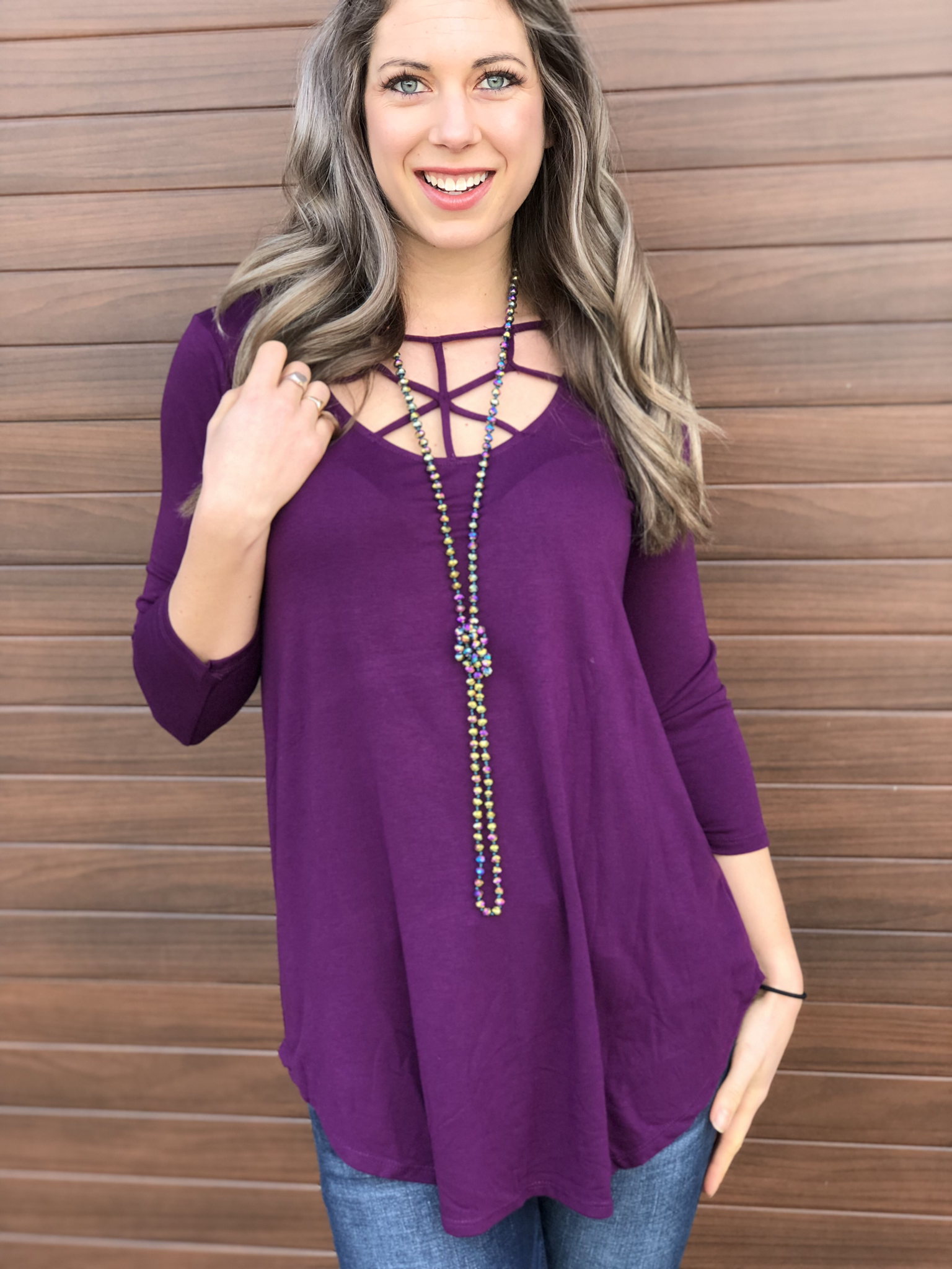 The West Cove Top - Purple 81478