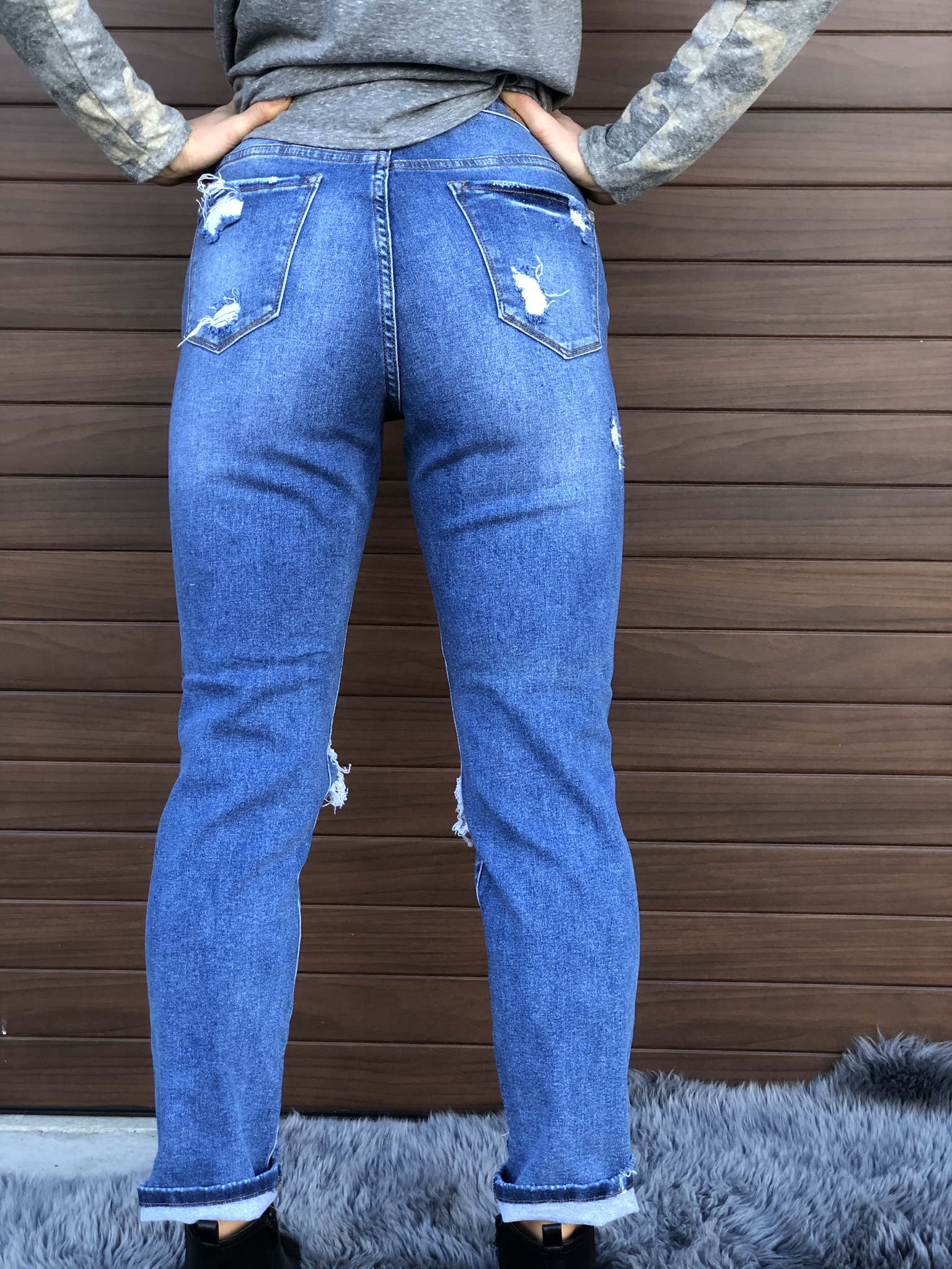 Judy Blue Boyfriend Distressed Jean