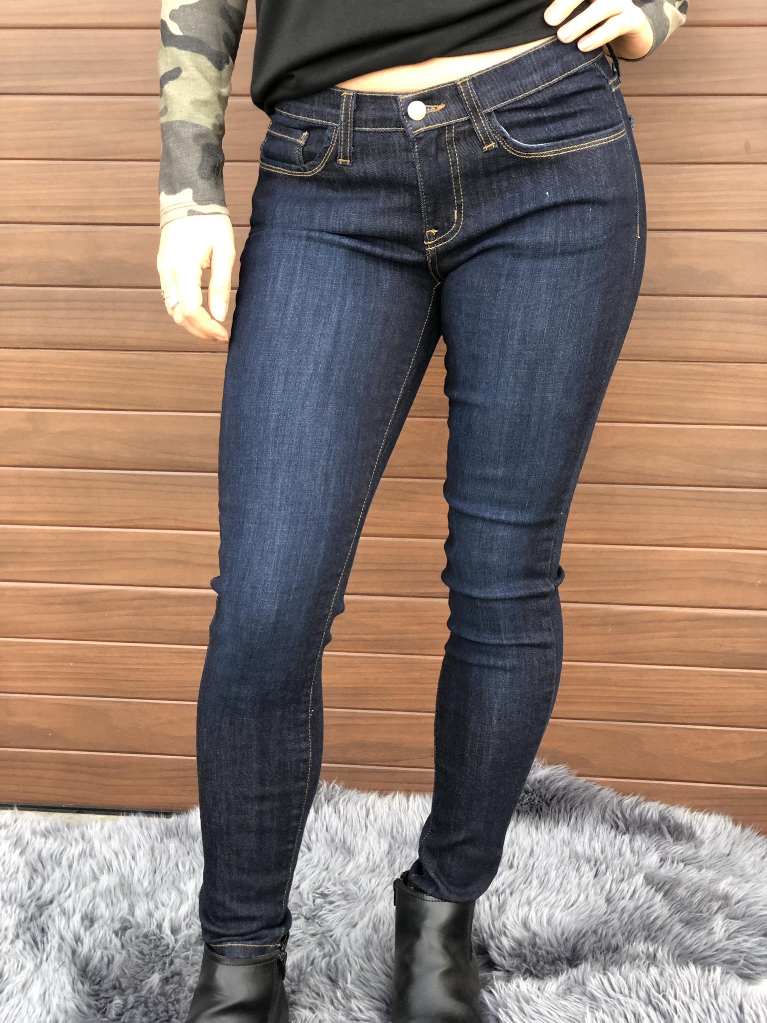 Judy Blue Classic Mid Rise Dark Skinny Jean - Restocked 1544