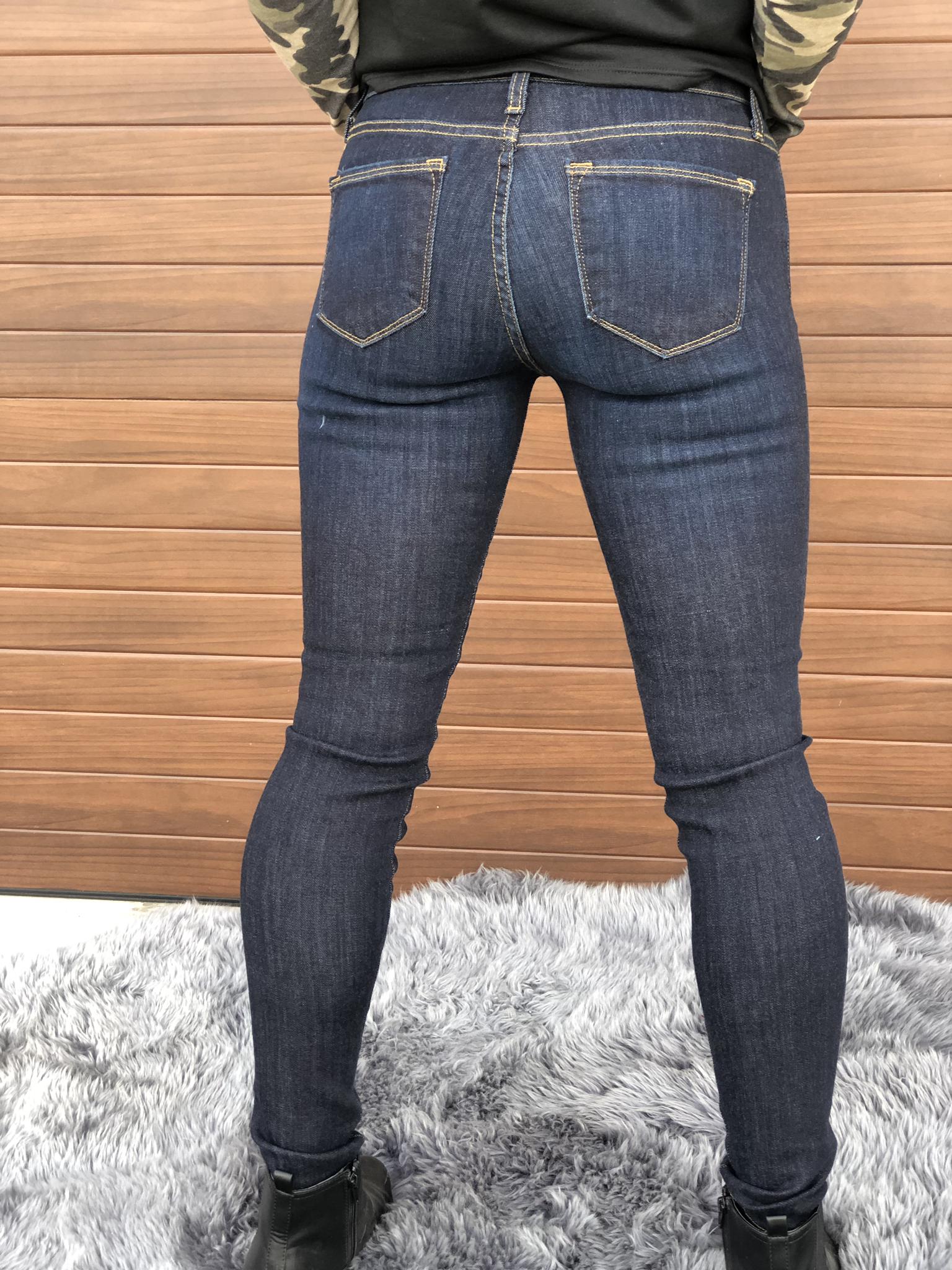Judy Blue Classic Mid Rise Dark Skinny Jean