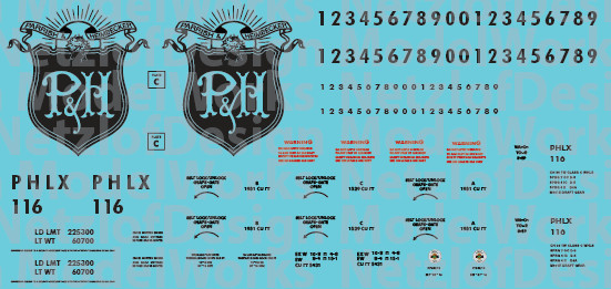 Parrish & Heimbecker (PHLX) Covered Hopper Decals