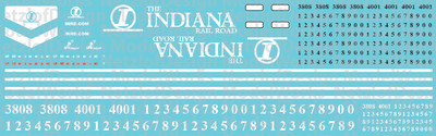 Indiana Railroad (INRD) EMD Locomotive Decals