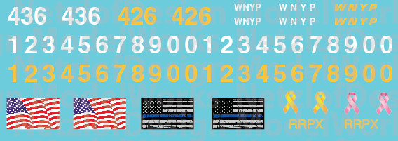 HO Scale - Western New York & Penna Locomotive Patch Out Set (WNYP)