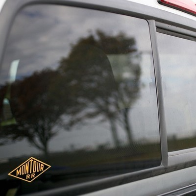 Vinyl Sticker - Montour Railway (Black/Yellow) Logo