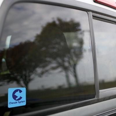 Vinyl Sticker - Chessie Safety Caboose Logo (Light Blue/Blue)