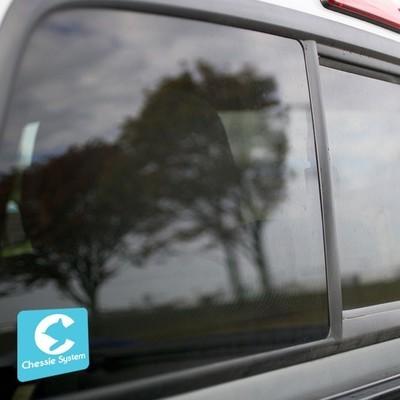 Vinyl Sticker - Chessie Safety Caboose Logo (Light Blue/White)