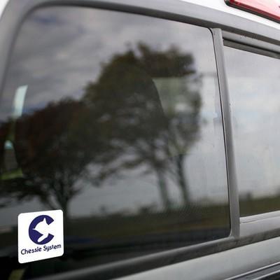 Vinyl Sticker - Chessie Safety Caboose Logo (White/Blue)