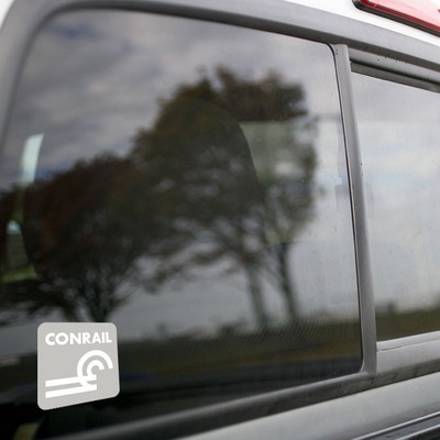 Vinyl Sticker - Conrail (CR) Logo  (Gray/White)