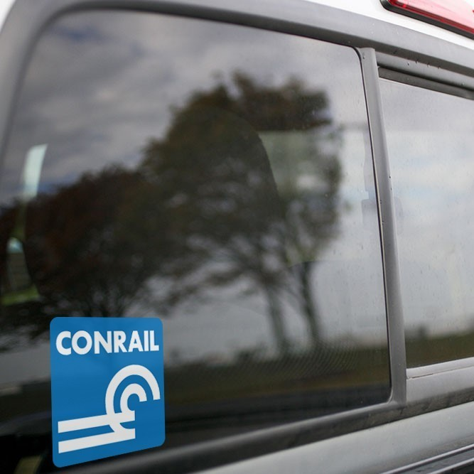Vinyl Sticker - Conrail (CR) Logo (Blue/White)