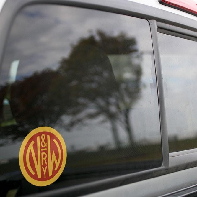 Vinyl Sticker - Norfolk & Western (NW) Logo (Red/Yellow)