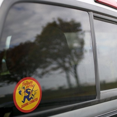Vinyl Sticker - Long Island Railroad Dashing Dan Logo (LIRR)