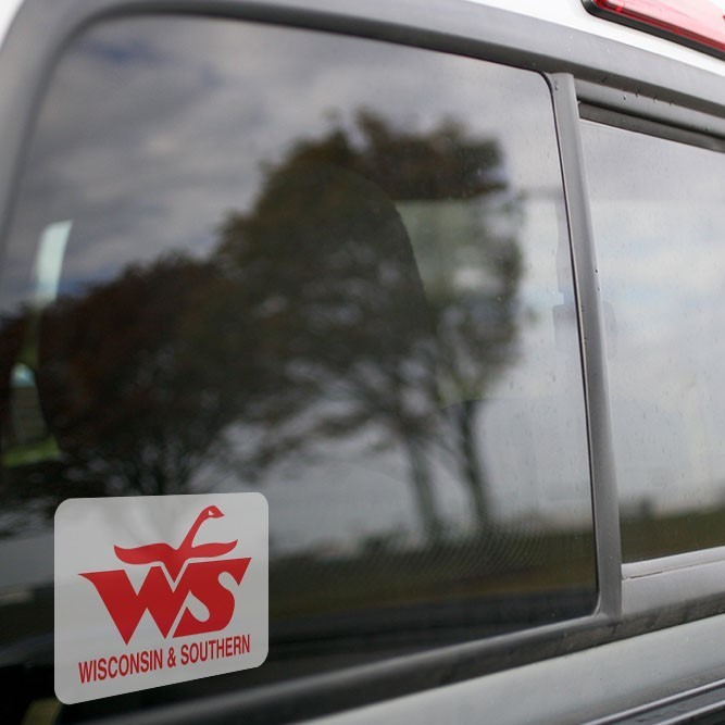 Vinyl Sticker - Wisconsin Southern Railroad Logo (WSOR)