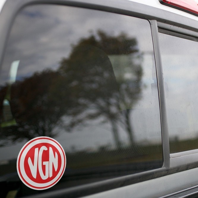 Vinyl Sticker - Virginian Railroad (VGN) Logo (Red/White)