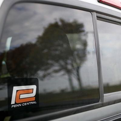 Vinyl Sticker - Penn Central (PC) Orange C Logo