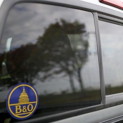 Vinyl Sticker - Baltimore & Ohio Capital Dome (B&O) Blue/Yellow Logo