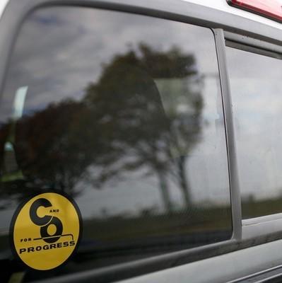 Vinyl Sticker - Chesapeake & Ohio For Progress (C&O) Logo (Yellow/Blue)