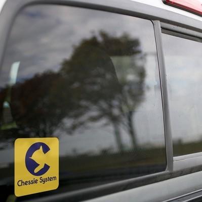 Vinyl Sticker - Chessie System Logo (Yellow/Blue)