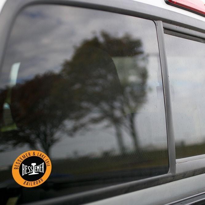 Vinyl Sticker - Bessemer & Lake Erie (BLE) Orange/Black/White Logo