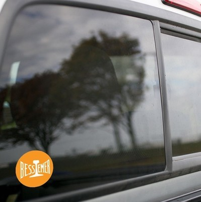 Vinyl Sticker - Bessemer & Lake Erie (BLE) Orange/White Logo