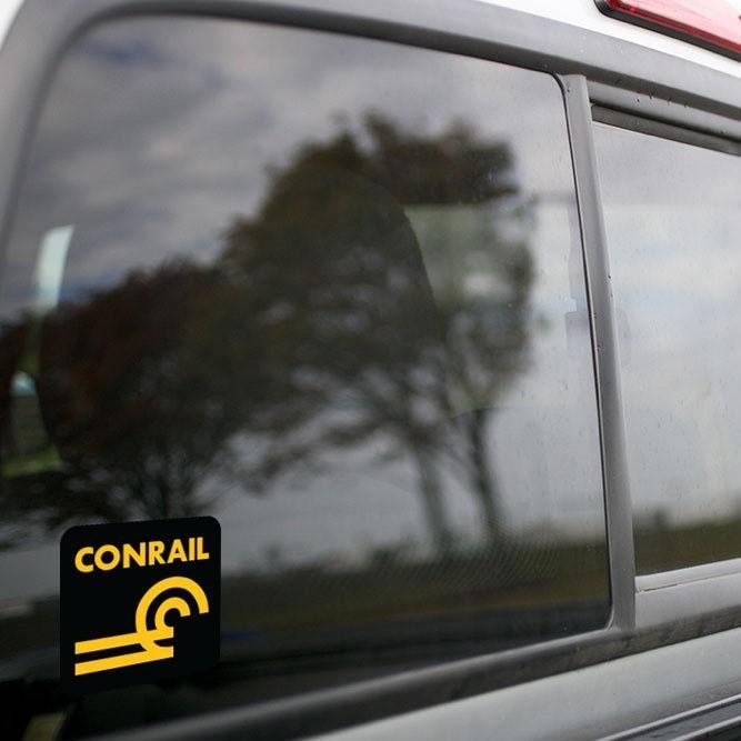 Vinyl Sticker - Conrail (CR) Logo  (Black/Gold)