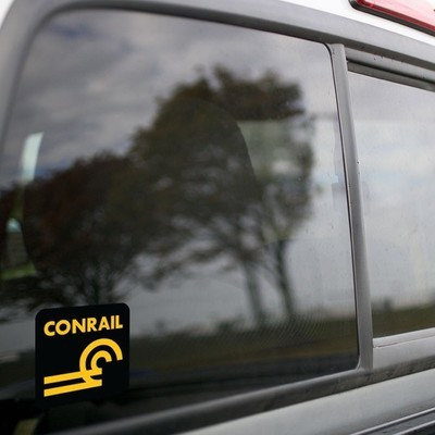 Vinyl Sticker - Conrail (CR) Logo  (Black/Gold)
