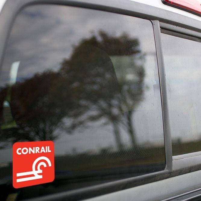 Vinyl Sticker - Conrail (CR) Logo  (Brown/White)