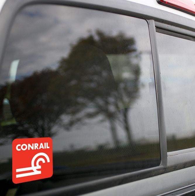 Vinyl Sticker - Conrail (CR) Logo  (Red/White)