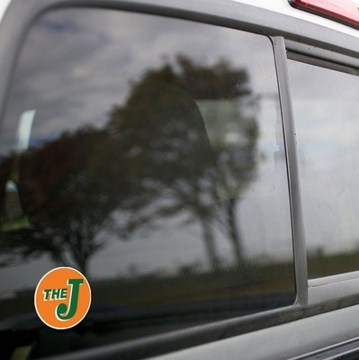 Vinyl Sticker - Elgin Joliet & Eastern (EJE) Logo (Orange/Green)