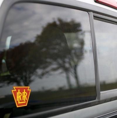 Vinyl Sticker - Long Island Railroad (PRR) (Maroon/Yellow) Logo