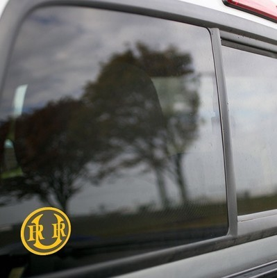 Vinyl Sticker - Union Railroad (URR) Logo (Gray/Yellow)