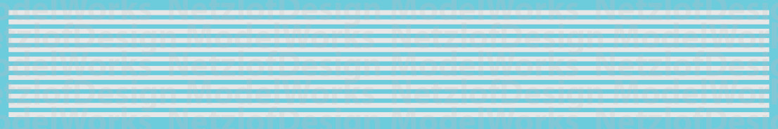 N Scale - Sill Striping, Non-Reflective Waterslide Decals - White