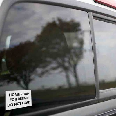 Vinyl Sticker - Home Shop for Repair (White/Black)