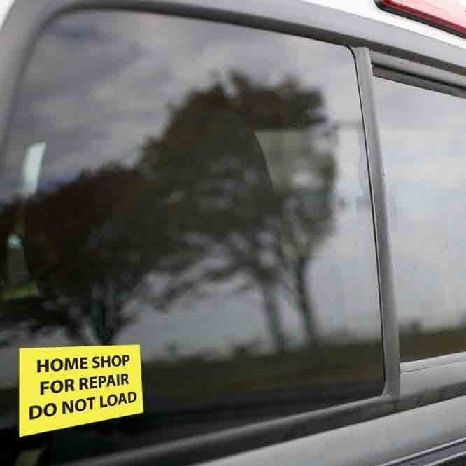 Vinyl Sticker - Home Shop for Repair (Yellow/Black)