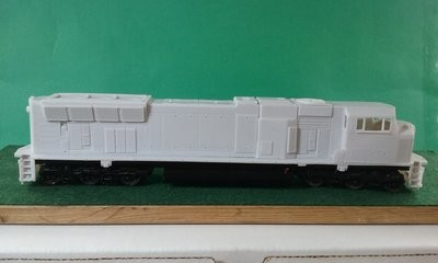 HO Scale CSX SD70 MAC Flared Radiator Locomotive Shell, by Pacific Northwest Resin