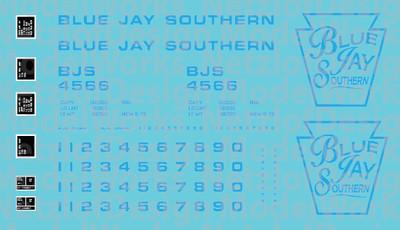 Blue Jay Southern Box Car (BJS) - Blue Lettering