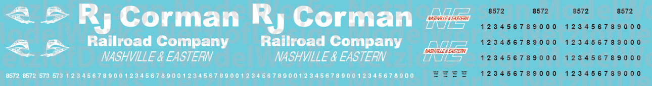 Nashville & Eastern Locomotives (RJ Corman)