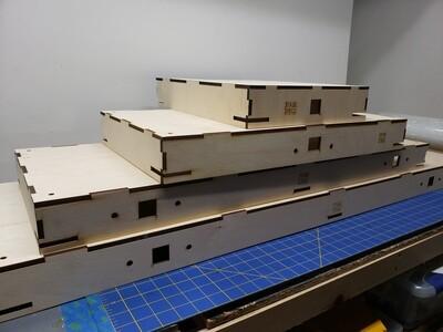 N Scale T-Trak Straight Modules (Single/Double/Triple/Quad)