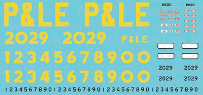 Pittsburgh & Lake Erie Ex-Conrail GP38s (Small Logo)