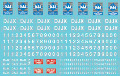 N Scale - David J. Joseph Hopper Patch Decal Set (DJJX)