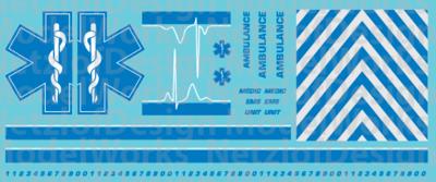 Generic Ambulance Star of Life Decals