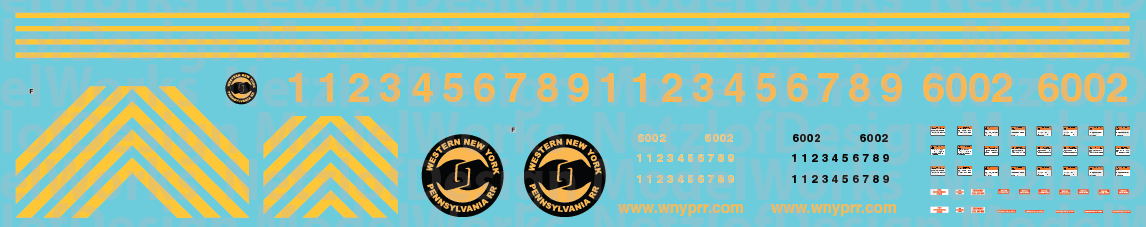 Western New York & Penna AC6000 Decal Set (WNYP)