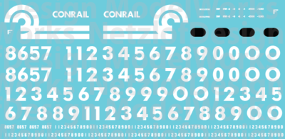 HO Scale - Conrail EMD Switcher (76-91) Decal Set